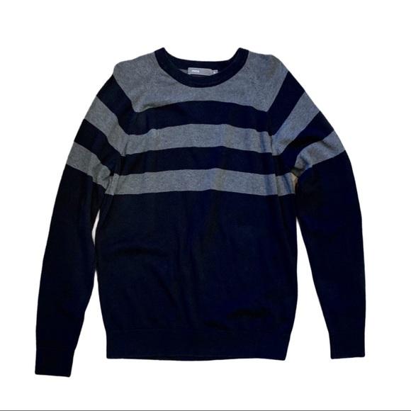 Vince Navy Blue Long Sleeve Cotton Crewneck | XL